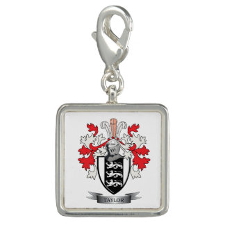 Taylor Family Crest Coat of Arms Charms