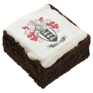 Taylor Family Crest Coat of Arms Chocolate Brownie