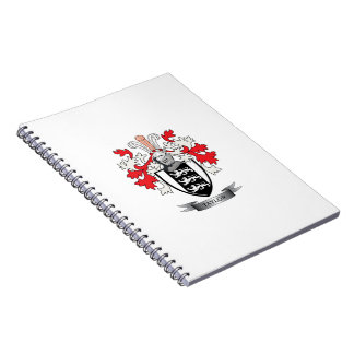 Taylor Family Crest Coat of Arms Spiral Notebook