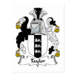 Taylor Family Crest Post Card