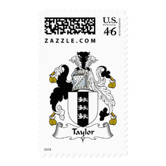 Taylor Family Crest Postage Stamp
