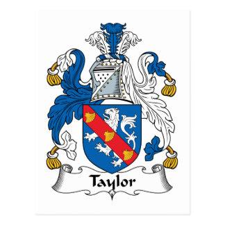 Taylor Family Crest Postcard