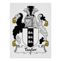Taylor Family Crest Gifts On Zazzle
