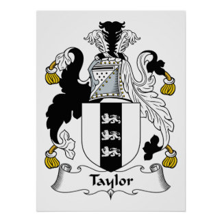 Taylor Family Crest Poster