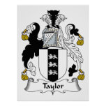 Taylor Family Crest Posters