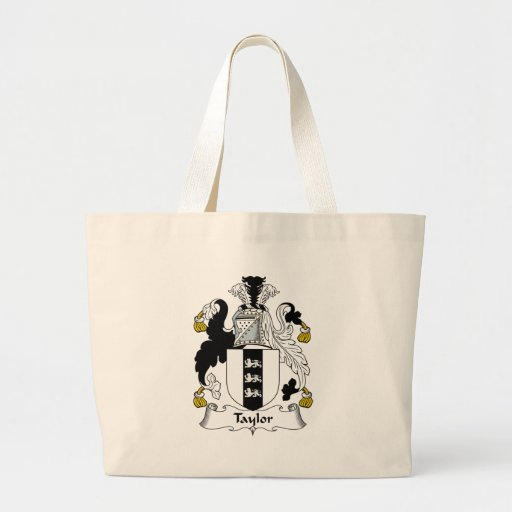 Taylor Family Crest Tote Bags