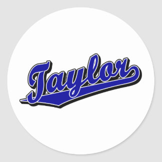 Taylor in Blue Classic Round Sticker