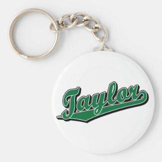 Taylor in Green Keychain