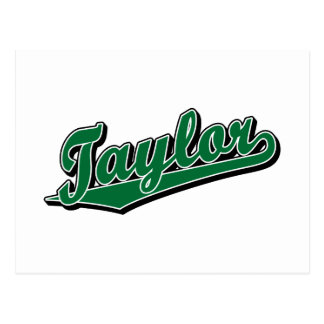 Taylor in Green Postcard