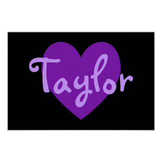 Taylor in Purple Poster