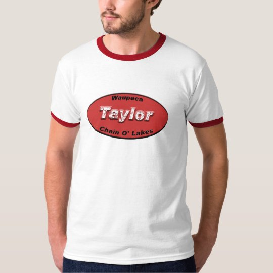 Taylor License Plate Red T-Shirt
