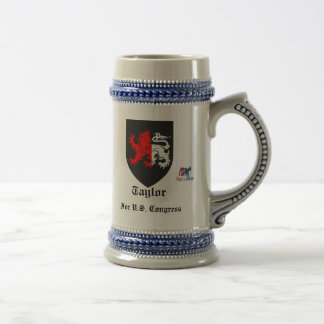 taylor_meath, Red to Blue (Picture), For U.S. C... 18 Oz Beer Stein
