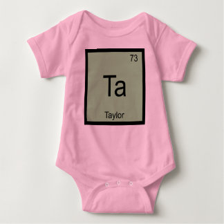Taylor Name Chemistry Element Periodic Table Baby Bodysuit