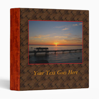 Taylor Street Dock Sunset 3 Ring Binder