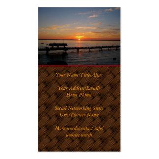 Taylor Street Dock Sunset Business Card Template