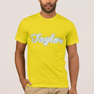Taylor T-Shirt White Blue Logo