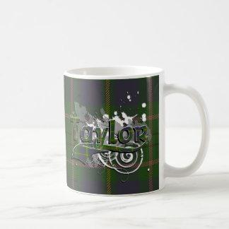 Taylor Tartan Grunge Coffee Mug