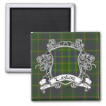 Taylor Tartan Shield 2 Inch Square Magnet