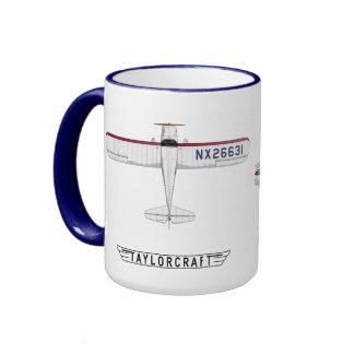 Taylorcraft - Miss Liberty Ringer Coffee Mug