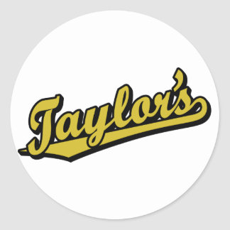 Taylor's in Gold Classic Round Sticker