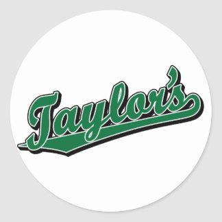 Taylor's in Green Classic Round Sticker