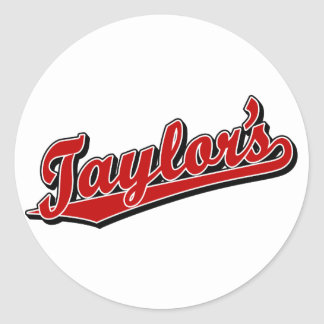 Taylor's in Red Classic Round Sticker