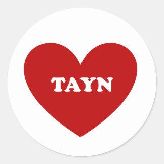 Tayn Classic Round Sticker