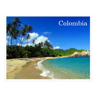 tayrona tropical beach post card