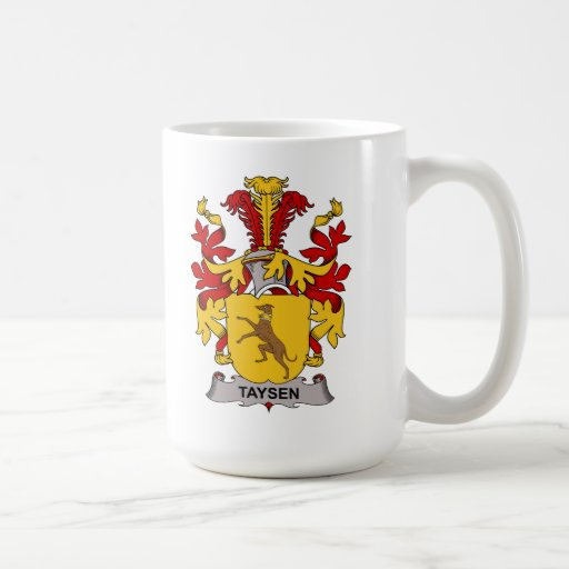 Taysen Family Crest Classic White Coffee Mug