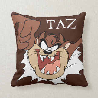 TAZ™ Bursting Through Page Throw Pillow