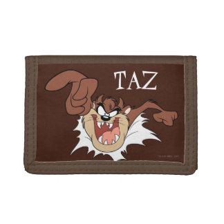 TAZ™ Bursting Through Page Tri-fold Wallets