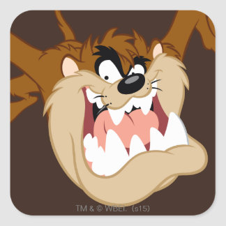 TAZ™ Evil Grin Square Sticker