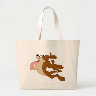 TAZ™ flying through the air Large Tote Bag