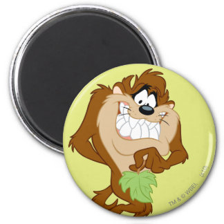 TAZ™ holding a leaf 2 Inch Round Magnet