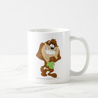 TAZ™ holding a leaf Classic White Coffee Mug