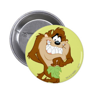 TAZ™ holding a leaf Pinback Button