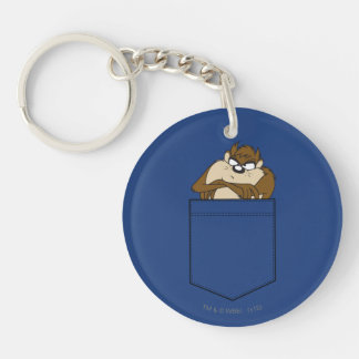 TAZ™ In A Pocket Double-Sided Round Acrylic Keychain