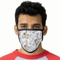 TAZ™ Line Art Color Pop Pattern Face Mask