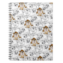 TAZ™ Line Art Color Pop Pattern Notebook