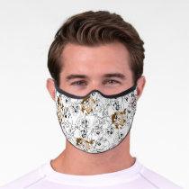 TAZ™ Line Art Color Pop Pattern Premium Face Mask