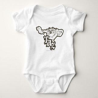 TAZ™ One Arm Stuff B/W Baby Bodysuit