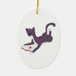 Taz Reading Ceramic Ornament