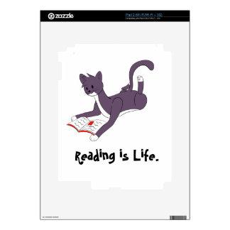 Taz Reading iPad 2 Decals