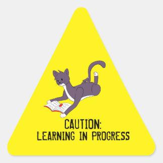 Taz Reading Triangle Sticker