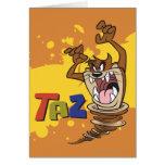 TAZ™ salvaje Tarjeta De Felicitación