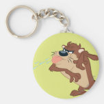 TAZ™ sticking out his tongue Basic Round Button Keychain