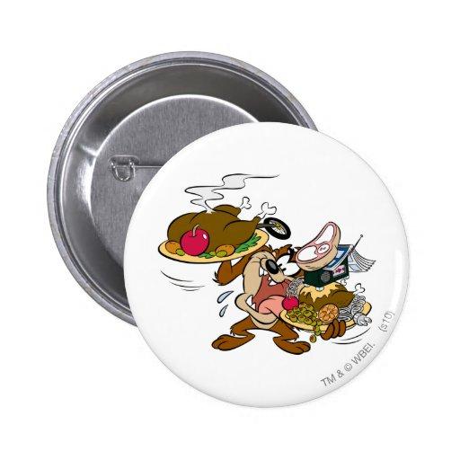 TAZ™ Thanksgiving Plates 2 Inch Round Button