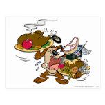 TAZ™ Thanksgiving Plates Postcard