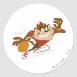 TAZ™ the Dribbling Cyclone Classic Round Sticker