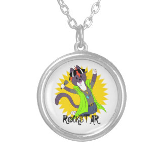 Taz the Rockstar Silver Plated Necklace